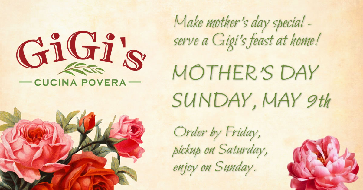 Serve a Gigi's Feast at Home for Mother's Day
