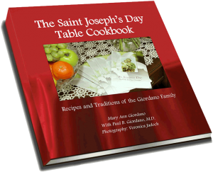 The Saint Joseph's Day Table Cookbook cover image